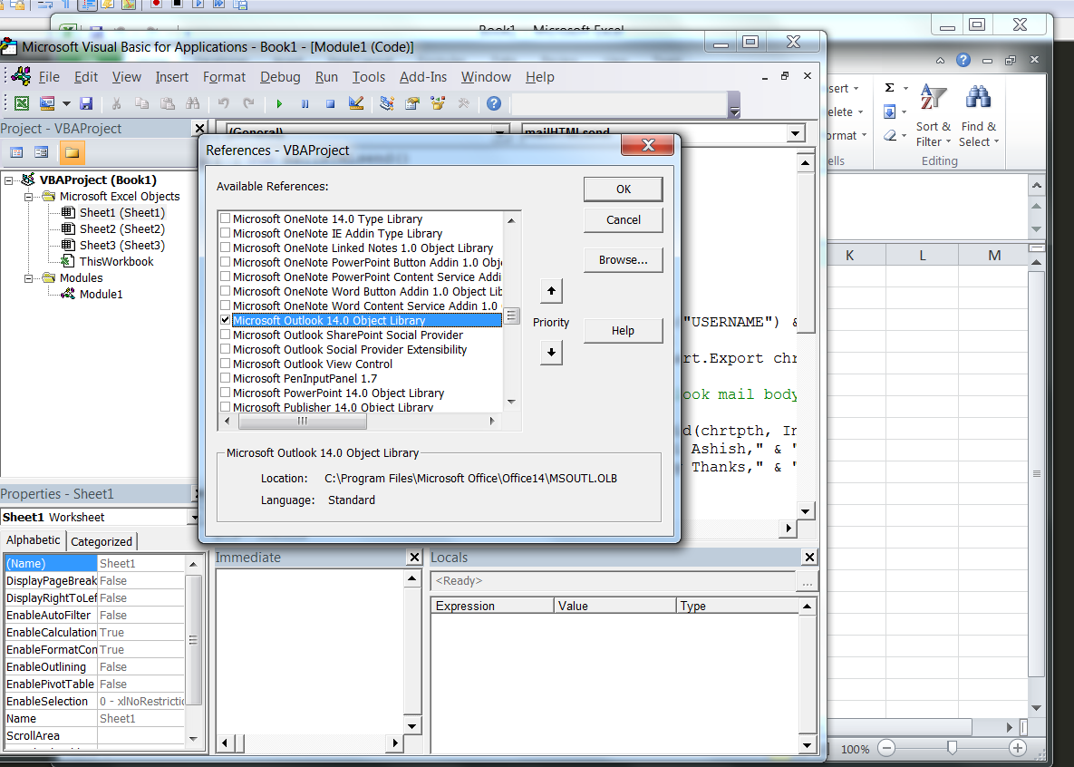 VBA – send an e-mail from Excel, using MS Outlook and HTML – Useful code