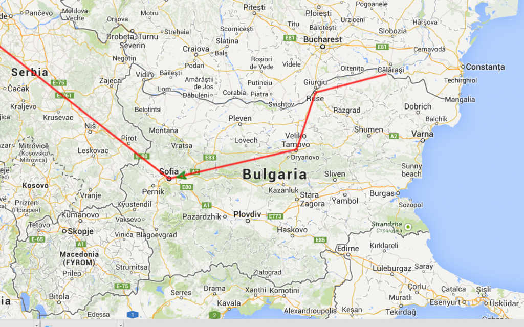 java script animation of a line in google maps useful code