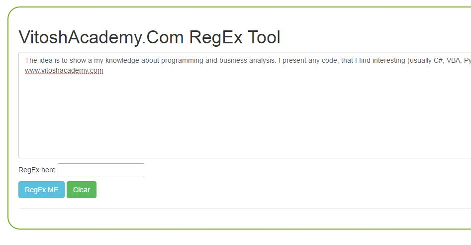 JavaScript – Make a RegEx Text Tool – Useful code