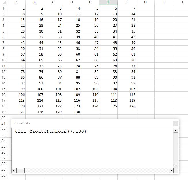 createnumbers