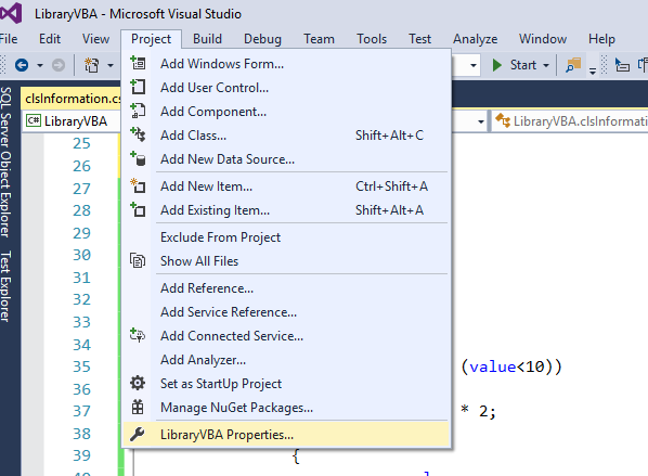 VBA – Add a C# library to a VBA project – Useful code