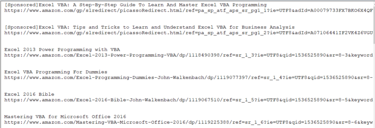 VBA – Data scraping from Internet with Excel – Part 2